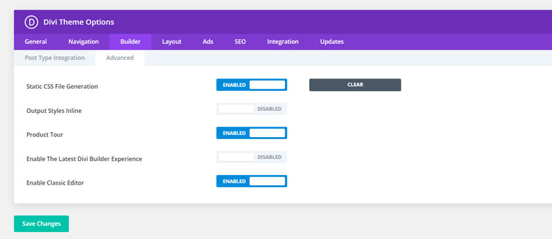 activate divi classic builder WP5