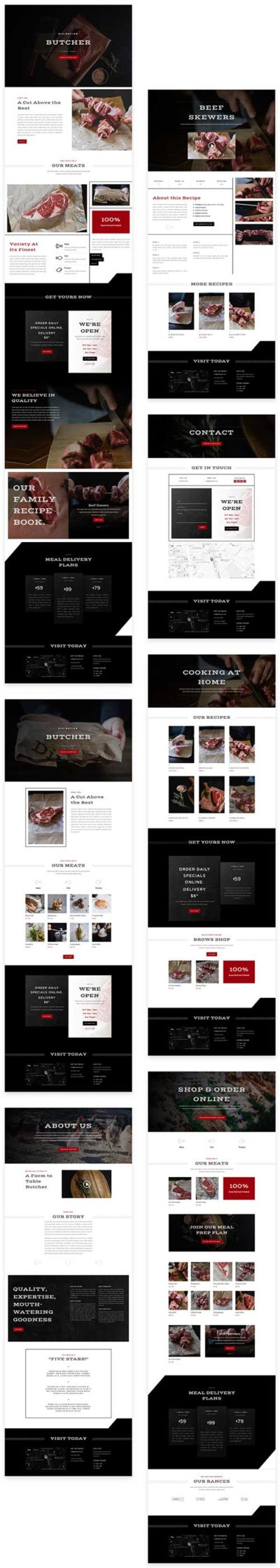 butchers divi layout