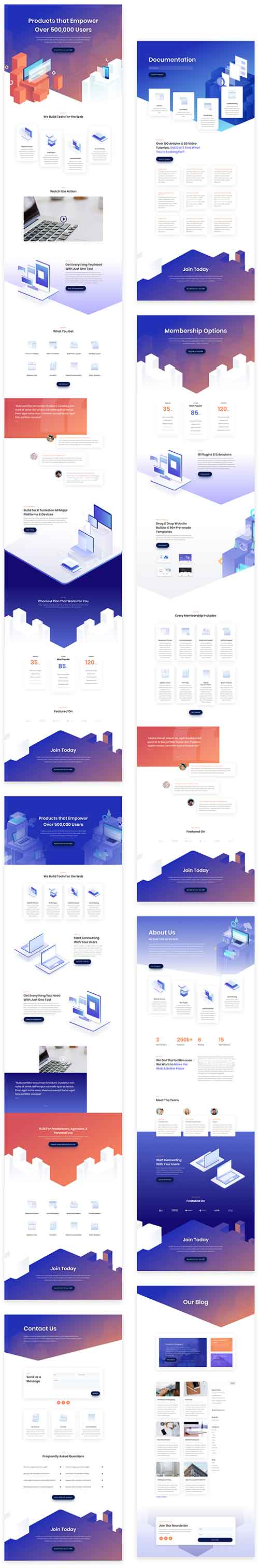 digital products divi layout