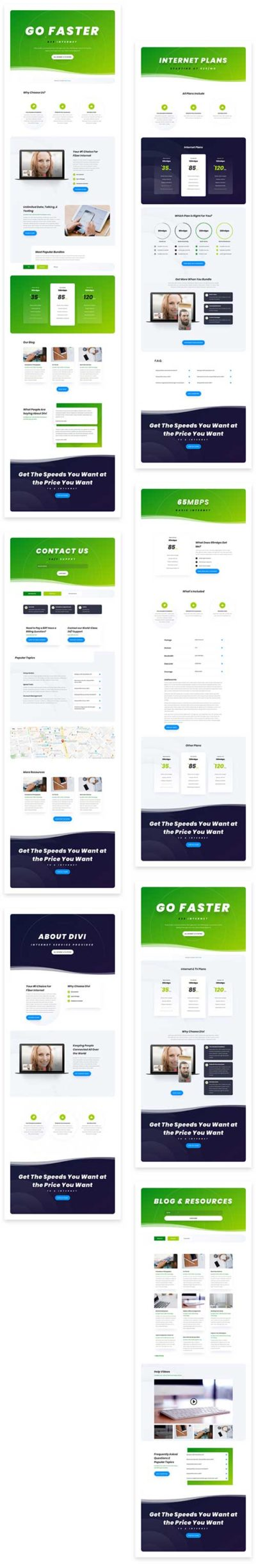 Divi ISP website template