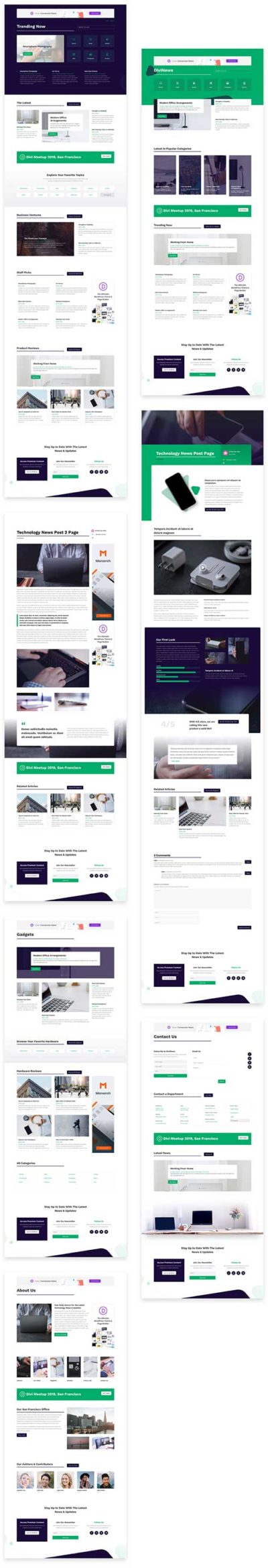 free divi blog layout