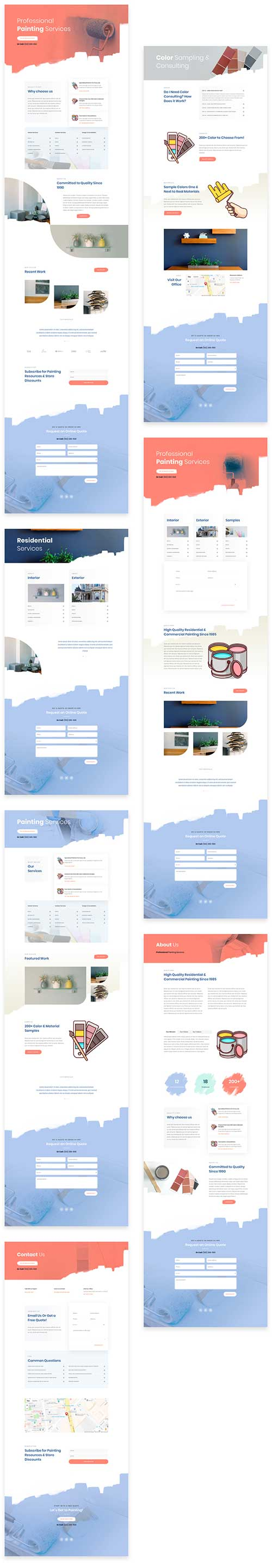 painters layout pack