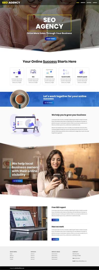 seo agency Divi layout pack