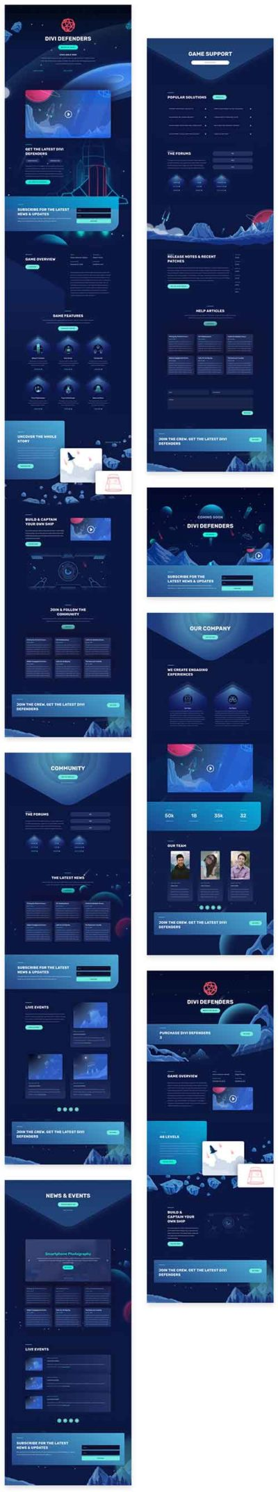 video game divi layout