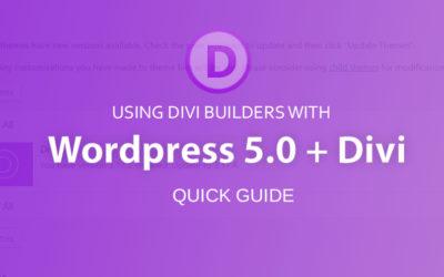 Divi, WordPress 5.0 + Gutenburg