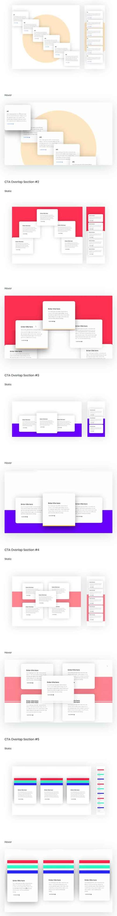 Divi CTA layout sections