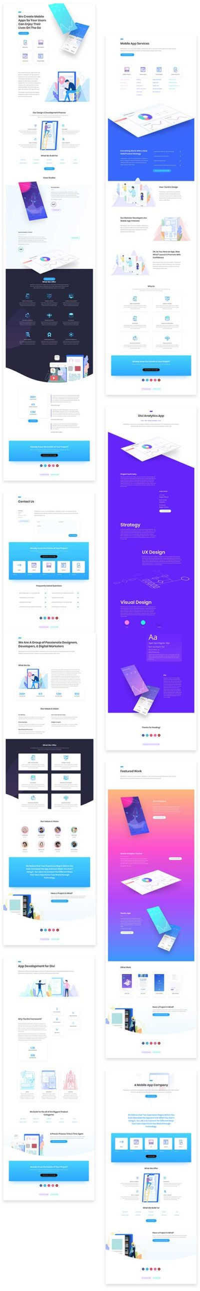 app developer divi layouts