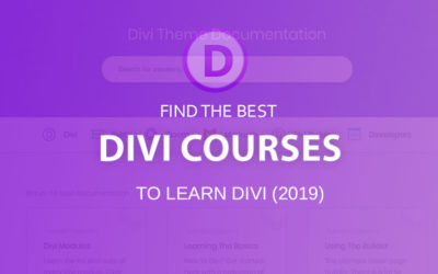Divi courses & resources (2020) to learn Divi