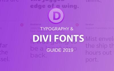 Divi Fonts guide 2019