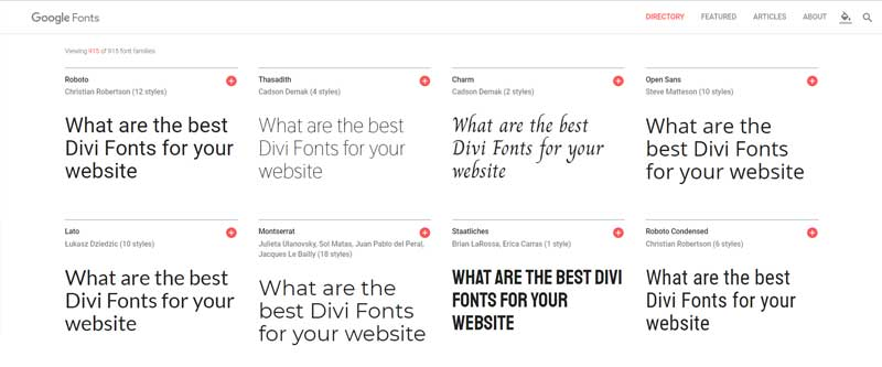 divi google fonts