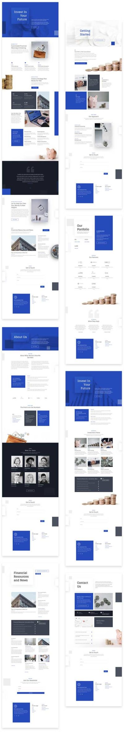 Divi investments layout pack