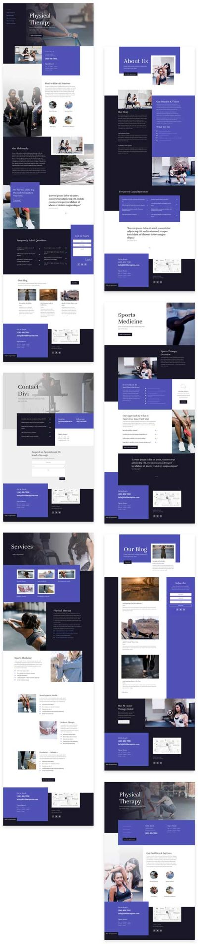divi layouts physical therapist