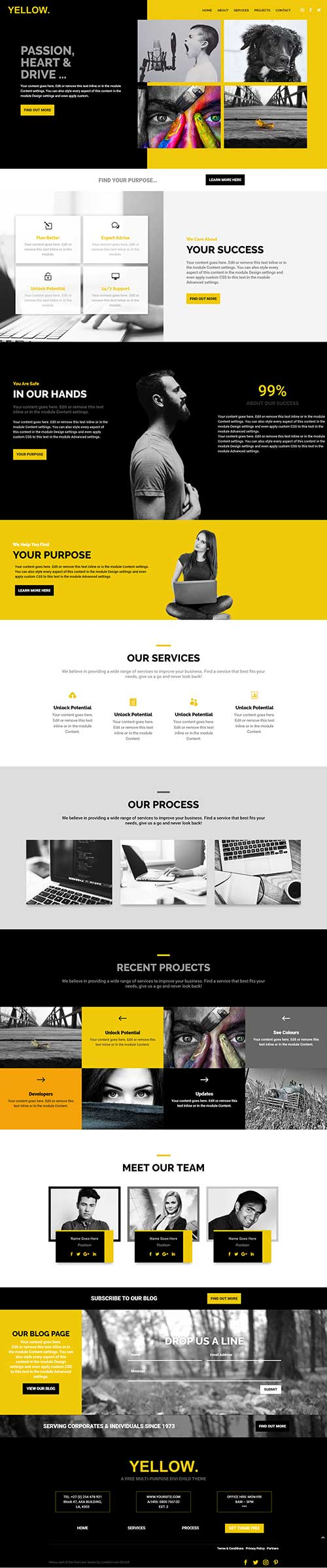 1-page Divi layout free