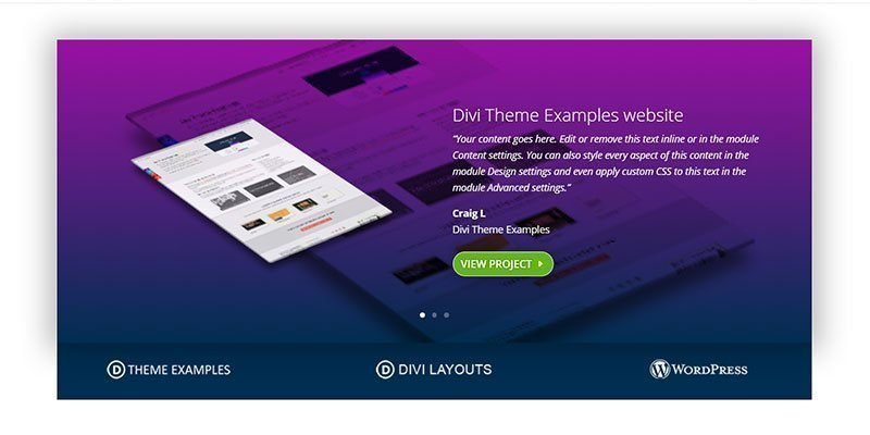 Divi testimonial slider layout