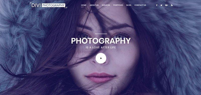 Divi Photography theme by Divi Life