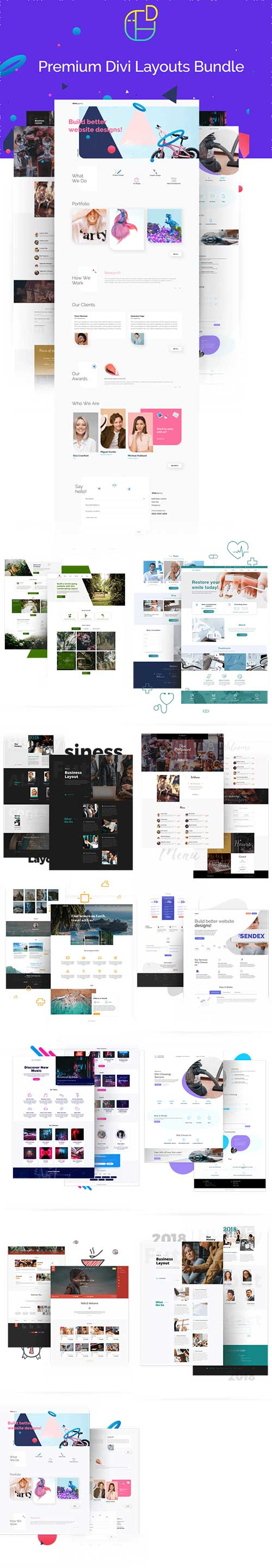 divi space layouts pack
