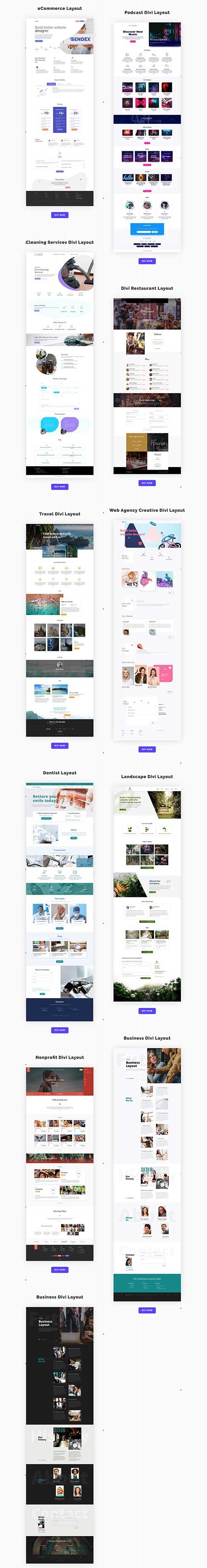 divi space layouts bundle