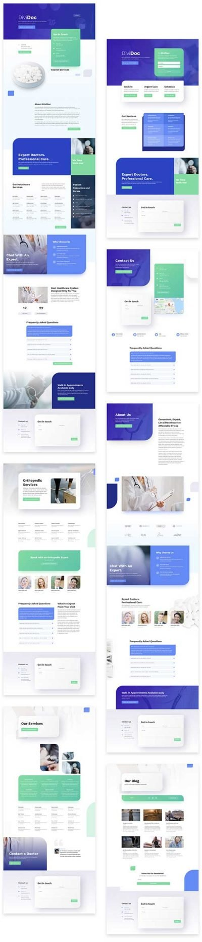 divi template for doctors