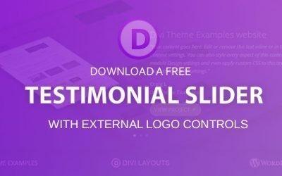 Divi Testimonial Slider layout (Free Download)