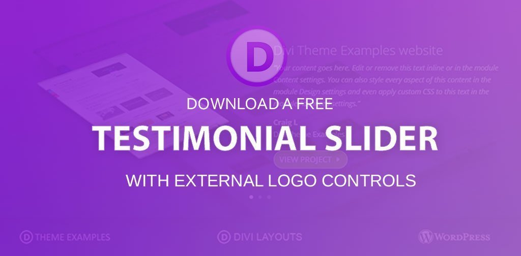 Divi Testimonial Slider layout (Free Download)