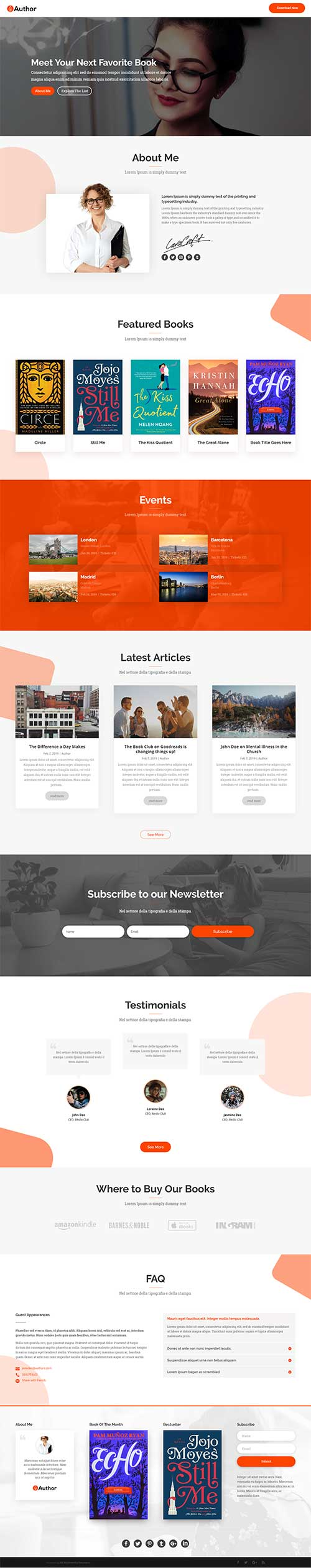 free author layout for Divi Theme