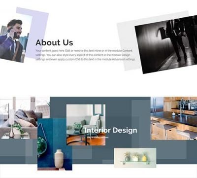 abstract image layout