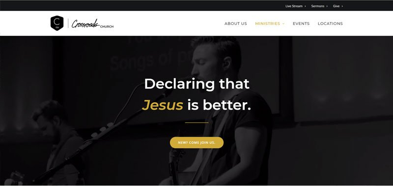 church website example built with Divi Theme