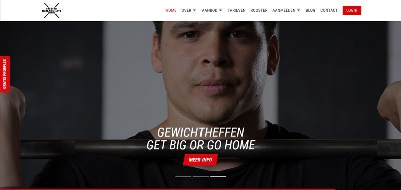 crossfit website design with Divi