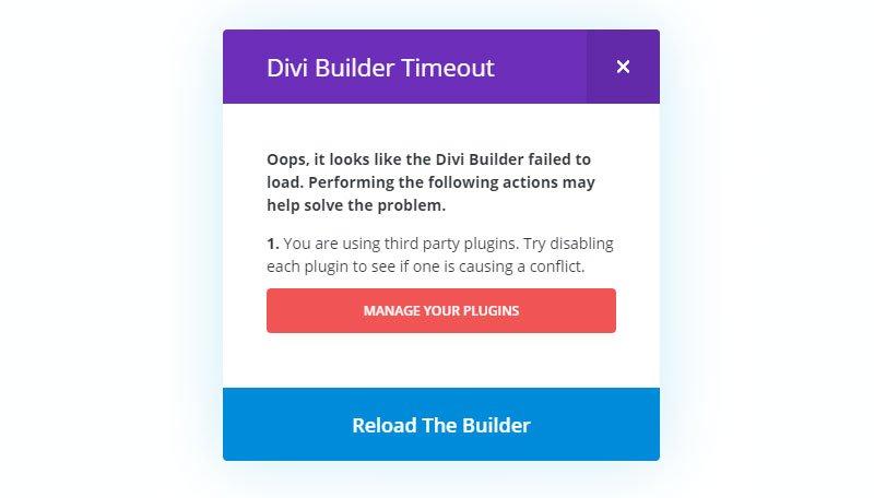 divi-builder-timeout error