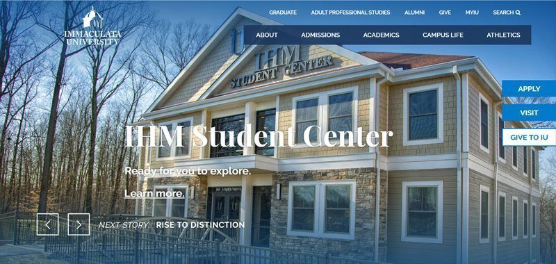 divi example university website
