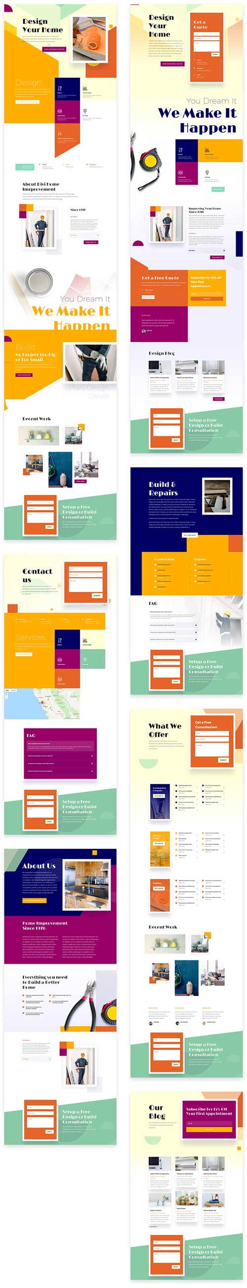 divi template for Home Improvement