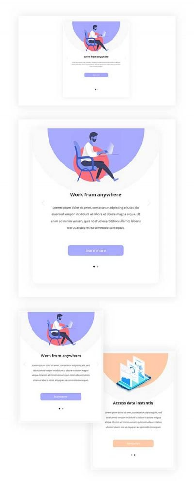 divi mobile swipe layout