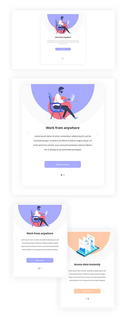 divi mobile swipe layout