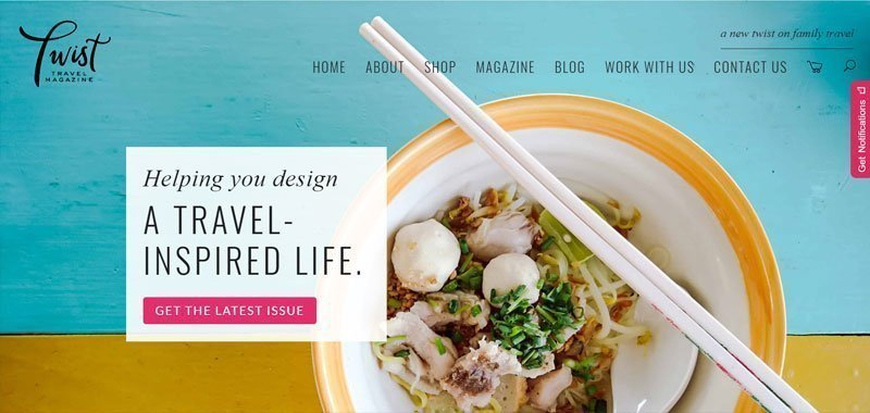 divi travel blog example