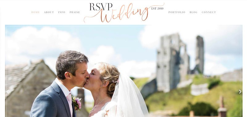 divi website for wedding planner