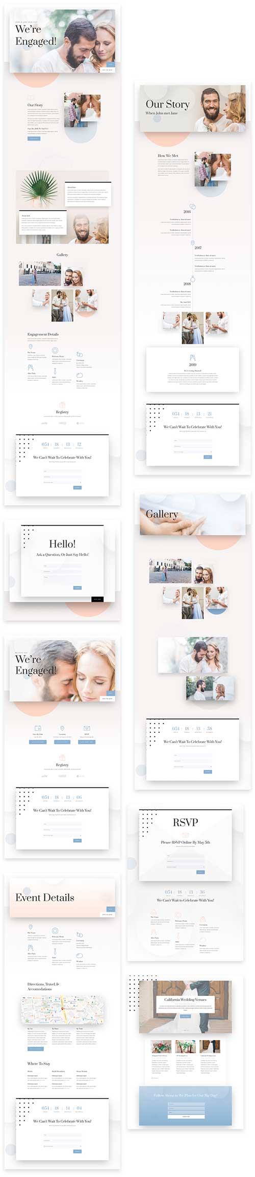 divi wedding template