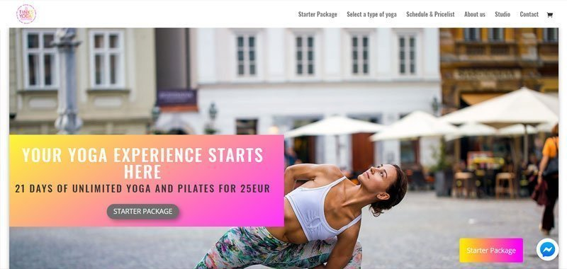 divi yoga example
