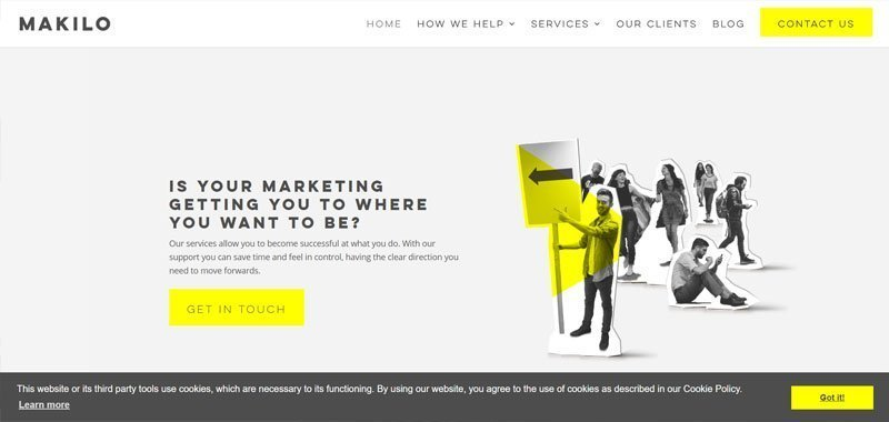marketing agency website example