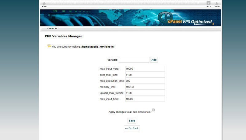 Divi php -variables-manager