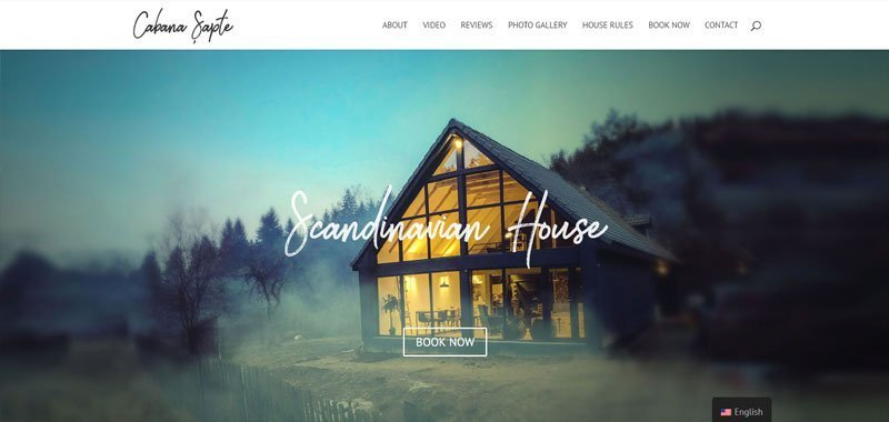 property rental site design example