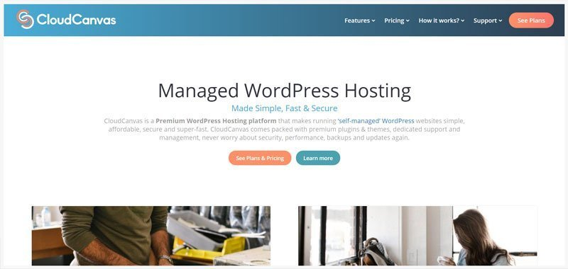 wordpress hosting website example