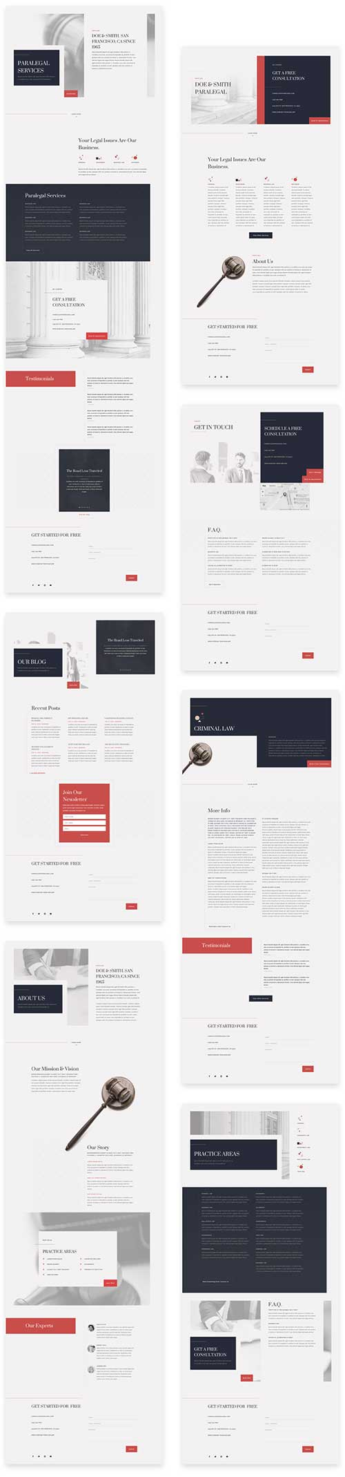 Divi lawyers layout template