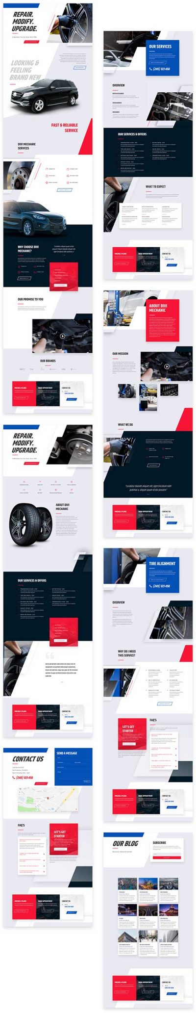 divi mechanics template