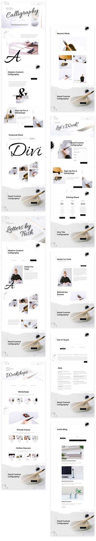calligraphy writer layout