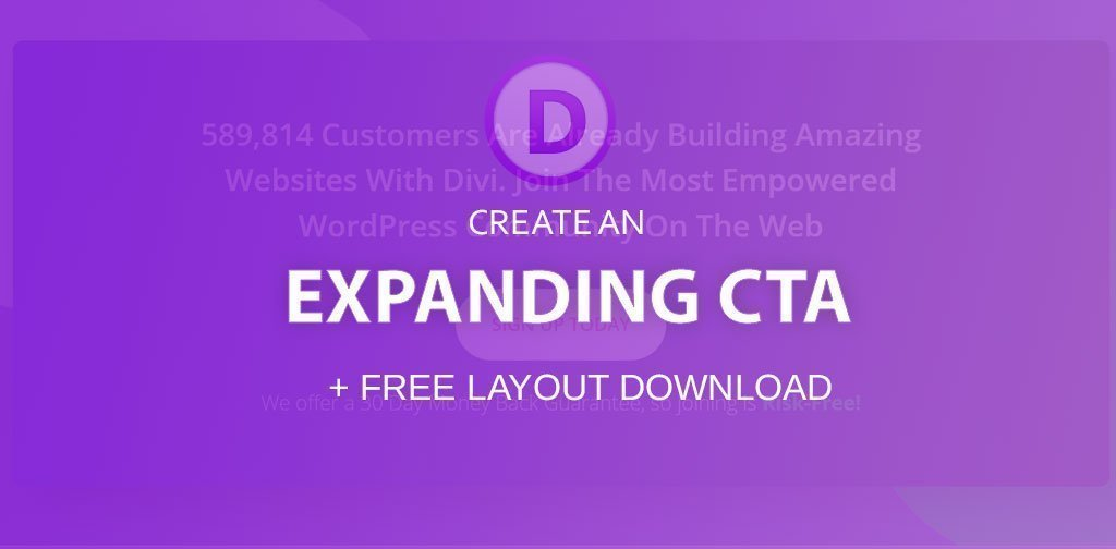 Create a Divi expanding CTA (+ free layout)