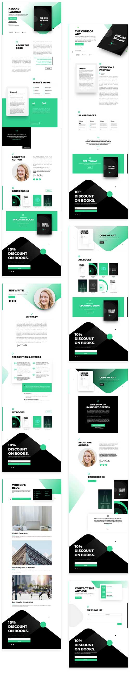 Free eBook Divi layout template