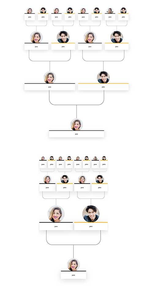 divi family timeline layout