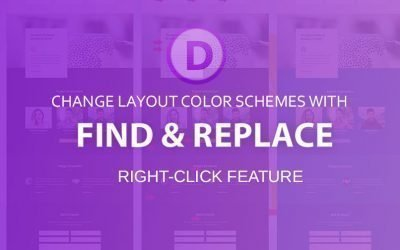 Find & Replace color schemes in Divi layout packs