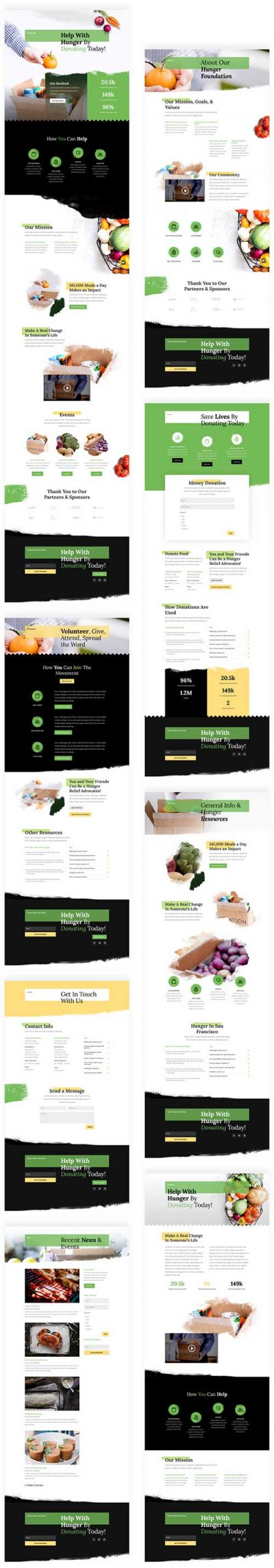 food bank layout template