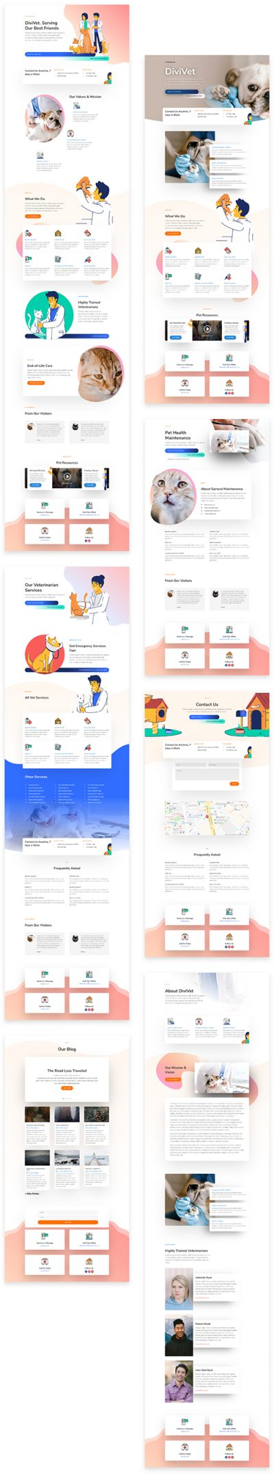 DIvi vets layout template